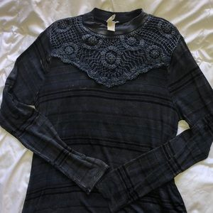 Lace top long sleeve